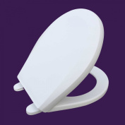 Potty Training Toilet Seat Round White Moulded Plastic Child Sized Replacement Part Easy Clean