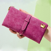 EQLEF® Fashion Women Wallets Lady's Nubuck Leather Zipper Long Purse Wallet