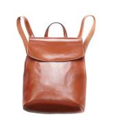 Women's Ladies Genuine Leather Handbags and Rucksack 2 in 1 Vintage Rucksack Shopping City College Uni Shoulder Backpack Casual Daypack-24*30*10cm
