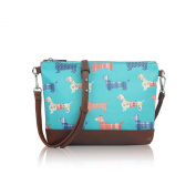 Matte Canvas Sausage Dog Dachshund Mini Crossbody Bag