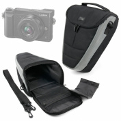 DURAGADGET Premium Quality Black & Grey Shock-Absorbing Padded Interior Case for the Panasonic Lumix GX85 Camera