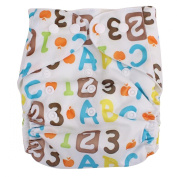 Letters Numeric Print Leakproof Washable Breathable Baby Cloth Nappy