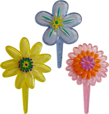Flower Pick Cupcake Toppers (18 Supplied)