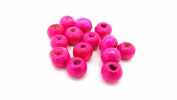 tanglz Pack of 50 Wooden Beads, Pink Beads