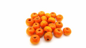 tanglz Pack of 50 Wooden Beads, Orange Beads, 6 mm