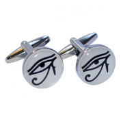 Eye of Horus Round Cufflinks X2BOC171