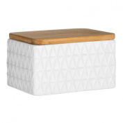Tri Butter Dish Dolomite White With Lid For Home Office