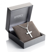 STERLL Necklace for men, solid 925 silver with a silver cross pendant, the perfect gift for a husband or boyfriend