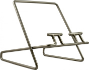 David Mason Design Fusion Wire Cookbook Stand, Nickel, Silver