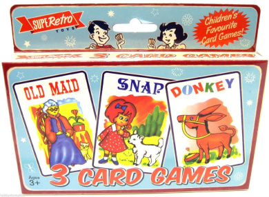 3 Card Games Old Maid Snap Cards Donkey Card Game Children's Playing Cards New