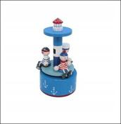 Nautical Trio Lighthouse Rotating Music Box