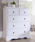 Romance TRUE White 2 over 3 Chest of Drawers, Quality ASSEMBLED larghe white chest