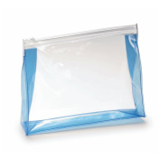 Pack of 10 Unisex Transparent Toiletry Bags - Cosmetic Bag for Travel - Airport Approved