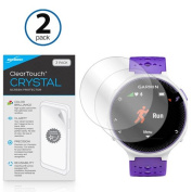 Garmin Forerunner 230 Screen Protector, BoxWave® [ClearTouch Crystal (2-Pack)] HD Film Skin - Shields From Scratches for Garmin Forerunner 230