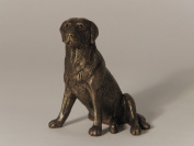 'Nigel', Labrador Sitting, Cold Cast Bronze Sculpture by Bulgarian sculpture Mitko. An ideal gift for the dog lover (MK004).
