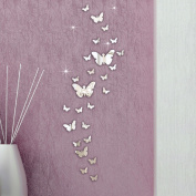 Vovotrade® 30PC Butterfly Combination 3D Mirror DIY Art Wall Stickers Bedroom Wall Stickers Decor