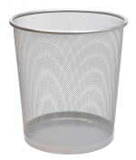 Pro Range Silver Wire Mesh 15L Waste Paper Basket Bin