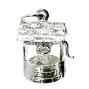 CLASSIC DESIGNS Sterling Silver 925 Moving Wishing Well Charm N592