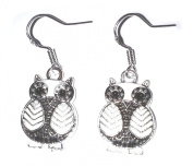 Juicy Jewellery 925 Sterling Silver & Enamel Owl Earrings Matching Necklace Also Available
