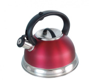 Buckingham Dome Shape Induction Whistling Kettle 2.6 L, Red