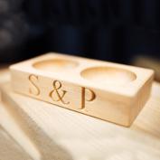 Wooden Salt & Pepper Pinch Pots
