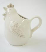 Gisela Graham White Ceramic Hen 'Glug' Jug- Small