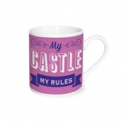 """Espresso Time Cup Saying """"My Castle My Rules"""""""