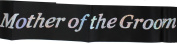 Black Hen Party Sash - (Sashes with silver font)