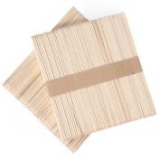 MAKARTT® 100pcs/lot Small Wooden Spatulas Wax Applicator Salon Waxing Body Hair Removal Beauty Health 4.41 * 1cm (