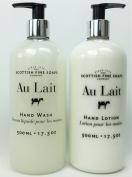 Au Lait Milk Soap Hand Wash + Hand Lotion Set, LARGE 520ml