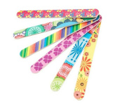 TOPWEL 10Pcs Colourful Double Sided Nail Files Manicure Pedicure Nail Files