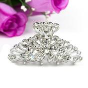 Beautyxyz Multi/white/blue/brown colour Crystal high quality flowers design Hair Claws Clips Pins