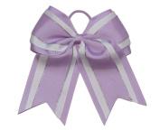 "NEW ""Light Purple Glitz"" Cheer Bow Pony Tail 7.6cm Ribbon Girls Hair Bows Cheerleading Dance Practise Football Games Uniform Competition"