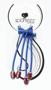 Sporteez 'Play Action' Sliding Ponytail Holder Featuring Football Charms