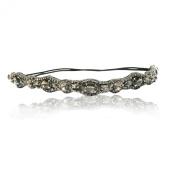 Bridal Crystal Rhinestone Diamond Elegant Headband Adjustable Non-slip Comfortable for Wedding