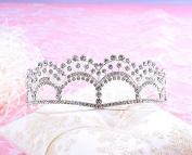 FANTASIEN Bridal Wedding Prom Engagement Party Bridal Bridesmaid Flower Rhinestone Crown Tiara