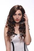 STfantasy Long Curly Wavy Brown Women Wig Costume