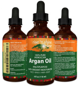 Pure Morocco Argan Oil (120ml) Best for Hair, Skin, and Nails - 100% All Natural Virgin Moroccan Argan Oil is a Great Shampoo, Conditioner, Hair Spray, Mask and Excellent Hair Growth and Loss Treatment
