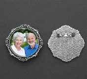Mother of Bride or Groom Round Wedding Photo Pin Brooch or For Bouquet Flowers Bonus EZ Photo Jewellery Resizer Software