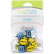 Eyelet Outlet Shape Brads 12/Pkg-Spring Bubble