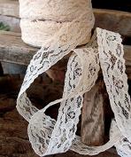 Ivory Chantilly Lace Ribbon 2.5cm x 25 Yards