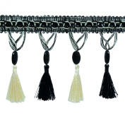 Fringe Trim Tassel Ethnic Ribbon Curtain Border By The Yard 10.6 Cm Wide Craft