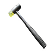 A Trust Lightweight Mallet Double-Face Soft Rubber and Plastic Hammer Pefect for Leather Crafts DIY Projects 1pc