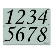 House Numbers, Address Numbers Custom Stencil 22cm x 28cm