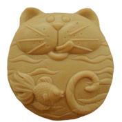 GRAINRAIN Silicone Soaps Mould Cats Like Fish Soap Making Mould Resin Moulds Handmade Soap Moulds Diy Craft Art Moulds 1 pc