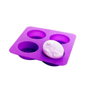 X-Haibei Dragonfly Lotus Flower Oval Silicone Moulds for Soap Cold Process Making Supply