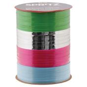 Set of (2) Spritz Curling Ribbon 4 End X 21m Blue, Green, Silver & Fuscia