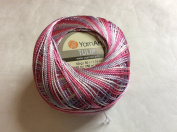 Variegated Pink Lavender White - Yarn Art Tulip Size 10 Microfiber Thread - 50 Gramme
