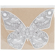 Diecut Colouring Cards -Butterfly