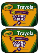 Crayola 54ct Trayola Coloured Pencils